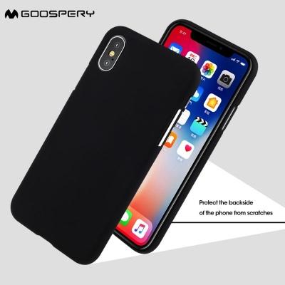 competitive price b4659 6f13b iPhone X Case Goospery Soft Feeling Case Black